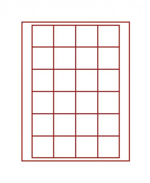 Münzbox RAUCHGLAS mit 24 quadratischen Fächern für Münzen/Münzkapseln bis ø42 mm