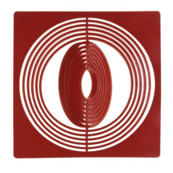 Münzbox-Inletts 67 x 67 mm, dunkelrot, 10er-Packung