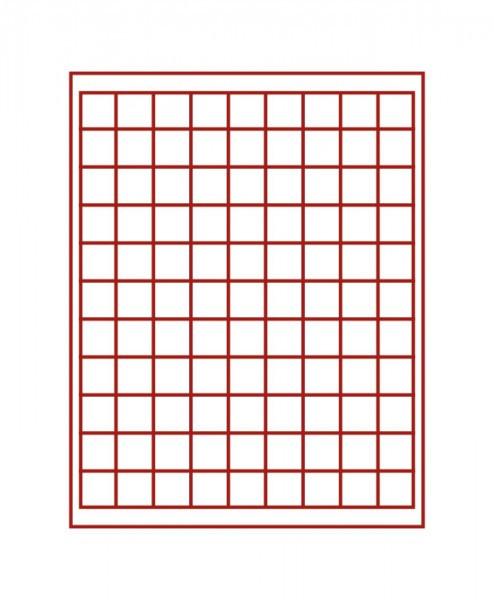 Münzbox RAUCHGLAS mit 99 quadratischen Fächern für Münzen/Münzkapseln bis ø19 mm