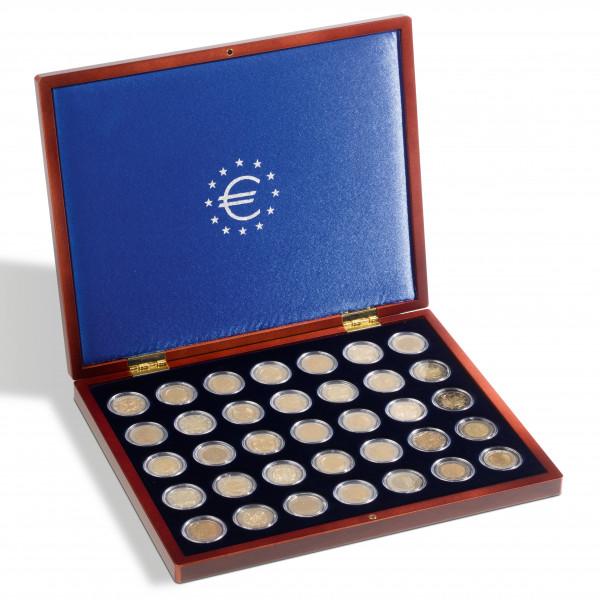 Münzkassette VOLTERRA UNO de Luxe, für 35 Münzen in Kapseln bis 26 mm Ø