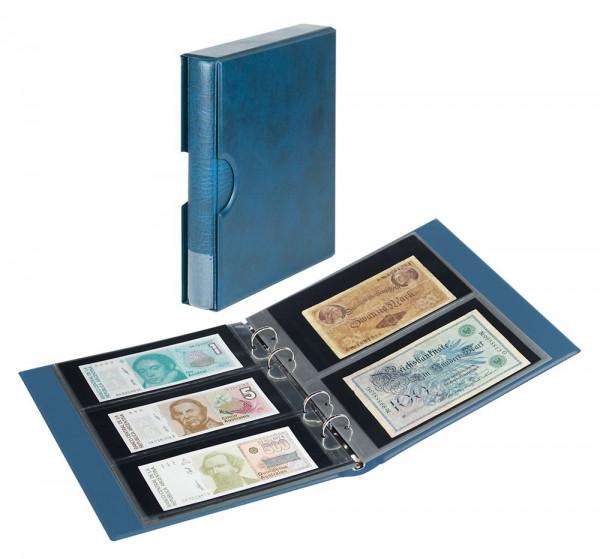 Banknotenalbum RONDO mit 10 Banknotenblättern, inkl. Schutzkassette