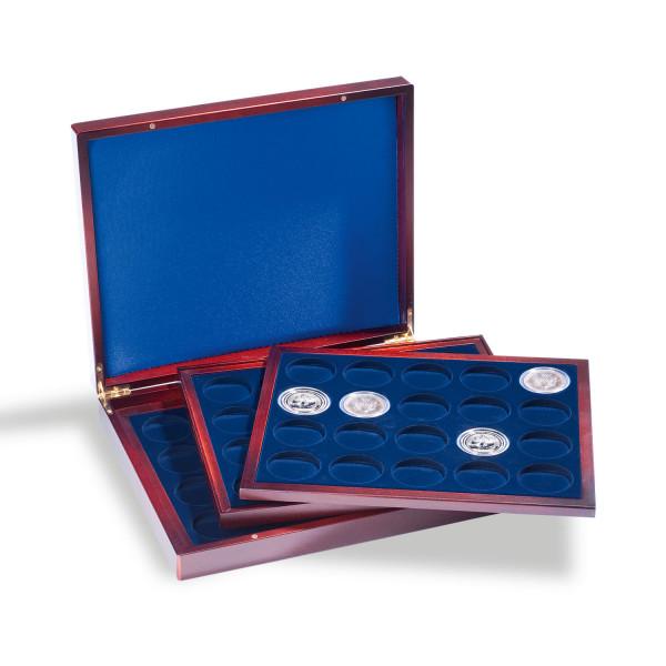 Münzkassette VOLTERRA TRIO deLuxe, für 60 Münzen in Kapseln bis 41 mm Ø