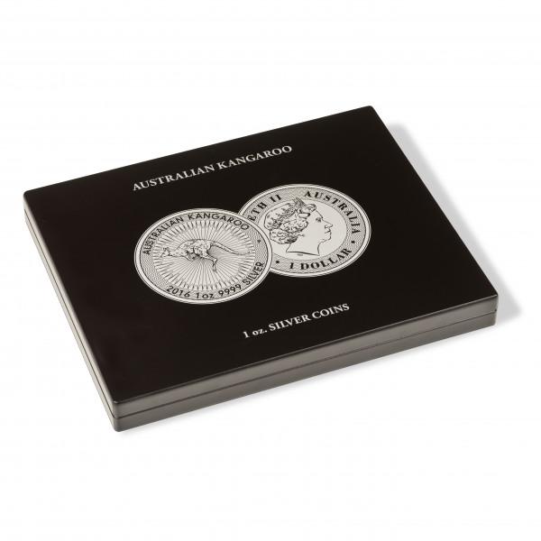Münzkassette für 20 Australian Kangaroo Silbermünzen (1 Oz.) in Kapseln
