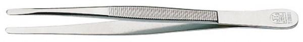 Pinzette, vernickelt, 120 mm, mit abgerundeten Spitzen