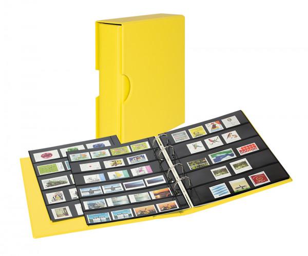 PUBLICA M COLOR Briefmarken-Einsteckalbum mit 10 beidseitig bestückbaren Folien-Einsteckblättern in zwei Ausführungen mit passender Schutzkassette