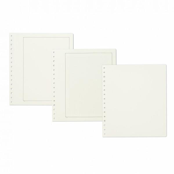 KABE Blankoblätter Albumpapier mit grüner Randlinie und Netzunterdruck, 10er Pack