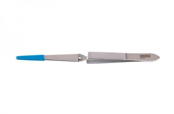 Edelstahl-Universalpinzette gekreuzt, 160 mm, mit beschichteten Spitzen