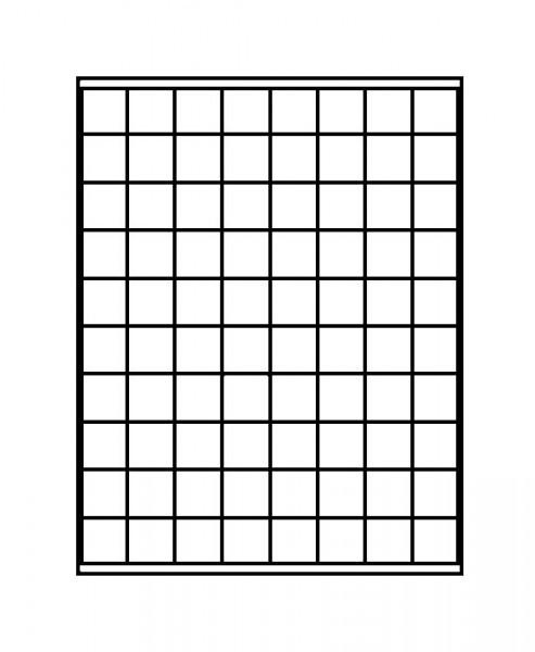 Münzbox MARINE mit 80 quadratischen Fächern für Münzen/Münzkapseln bis ø24 mm