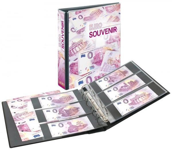 Set: PUBLICA M Sammelalbum für 0-Euro Souvenirscheine mit 10 beidseitig bestückbaren Folienblättern, inkl. Katalog der 0-Euro-Souvenirscheine