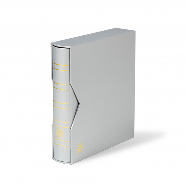 Ringbinder OPTIMA, Classic-Design, inkl. Schutzkassette, metallic Edition