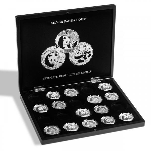 Münzkassette für 20 Panda-Silbermünzen, schwarz