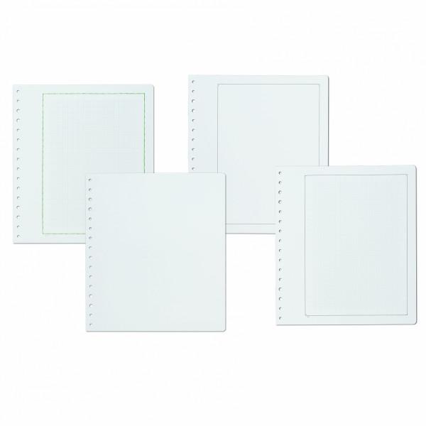 KABE Blankoblätter extra starker Albumkarton mit schwarzer traditioneller Randlinie, 10er