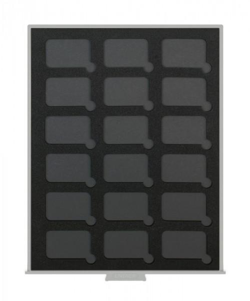 Münzbox STANDARD BLACK SAMT für 18 rechteckige Münzkapseln S22552747P