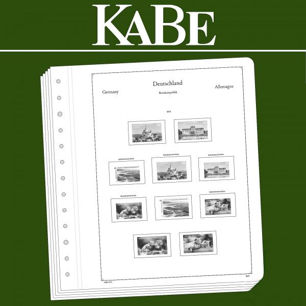 KABE OF-Vordruckblätter Bundesrepublik Deutschland-Markenheftchen