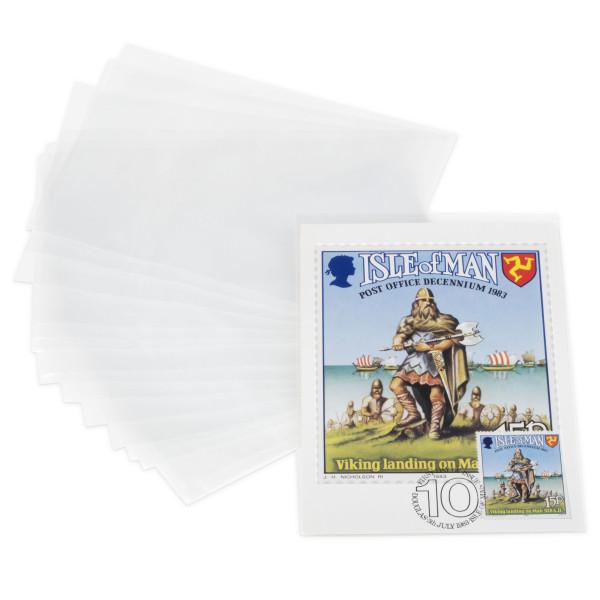 Schutzhüllen für Postkarten bis 150 x 107 mm, PP, 200er Pack