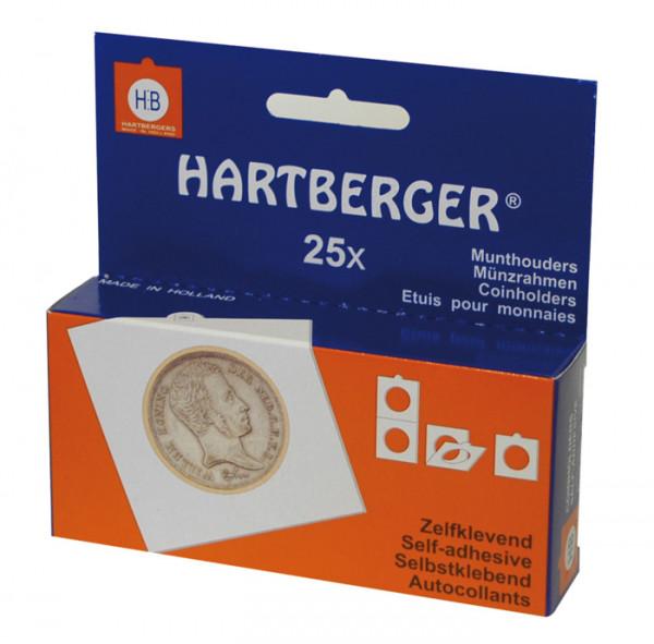 HARTBERGER Münzrähmchen mit ovalem Ausschnitt 38x24mm für Pressed Pennies, selbstklebend, 25er-Packu