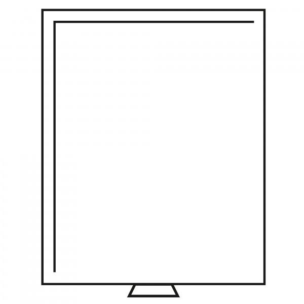 Münzbox ohne Facheinteilung 210x270 mm, rauchfarben