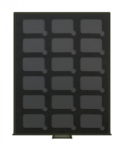 Münzbox RAUCHGLAS BLACK SAMT für 18 rechteckige Münzkapseln S22552747P