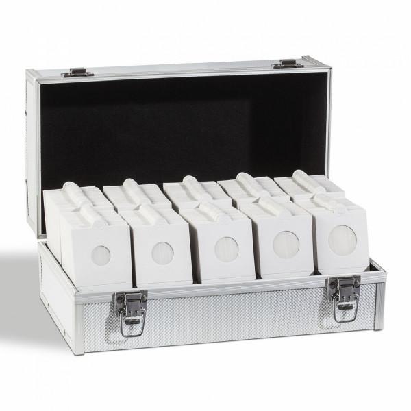 Münzrähmchen-Sortiment 1.000er, weiß, selbstklebend, inkl. Koffer