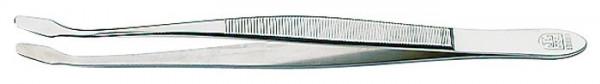 Pinzette, vernickelt, 150 mm, mit abgebogenen Schaufeln