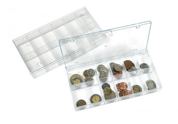 Sammelbox transparent, 12 feste Fächer