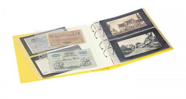 PUBLICA M COLOR Banknotenalbum mit 10 beidseitig bestückbaren Folienblättern in zwei Ausführungen