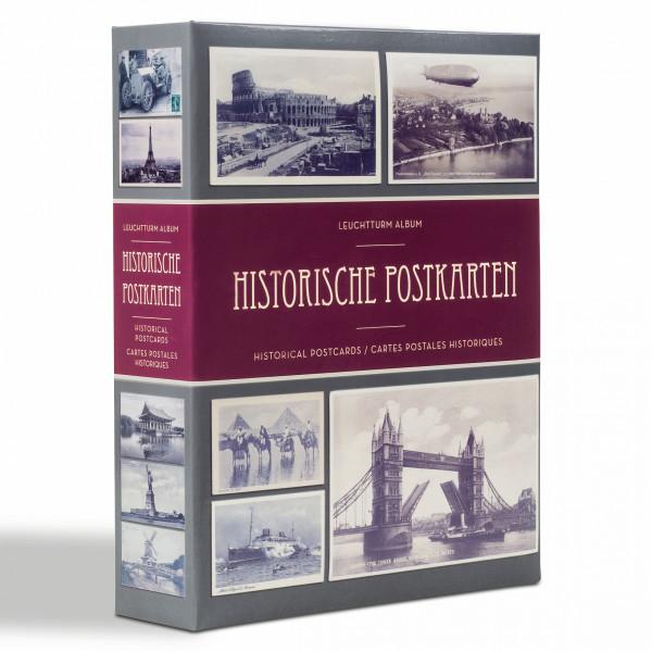 Album für 200 historische Postkarten, mit 50 eingebundenen Klarsichthüllen