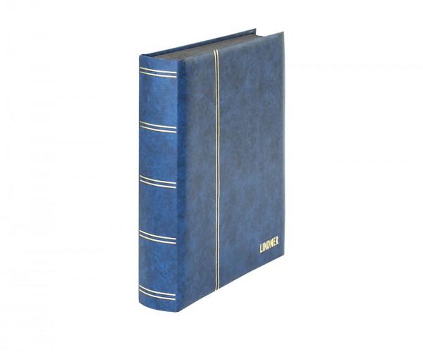 Einsteckbuch ELEGANT blau, mit 60 schwarzen Seiten und passender Schutzkassette