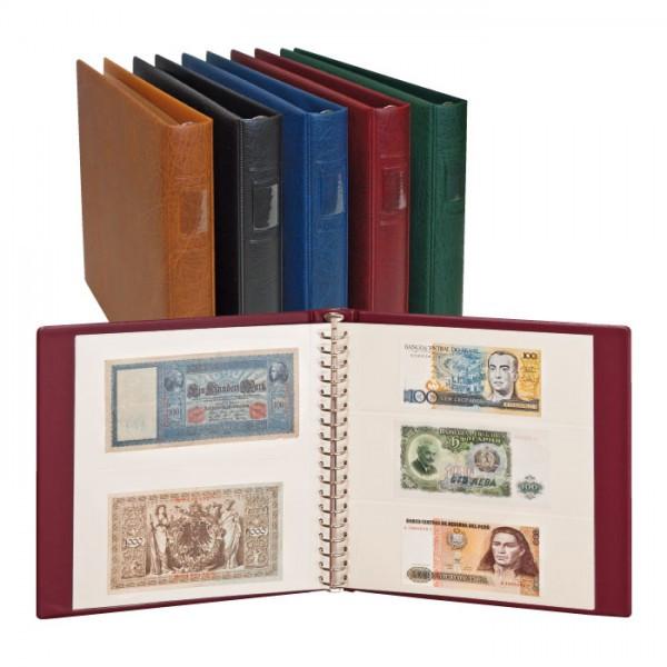 LINDNER Banknoten-Album (mit weißen Zwischenblättern)