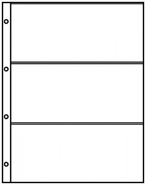 Einsteckblätter A4 glasklar mit 3 Taschen (220 x 97 mm), 10er-Packung