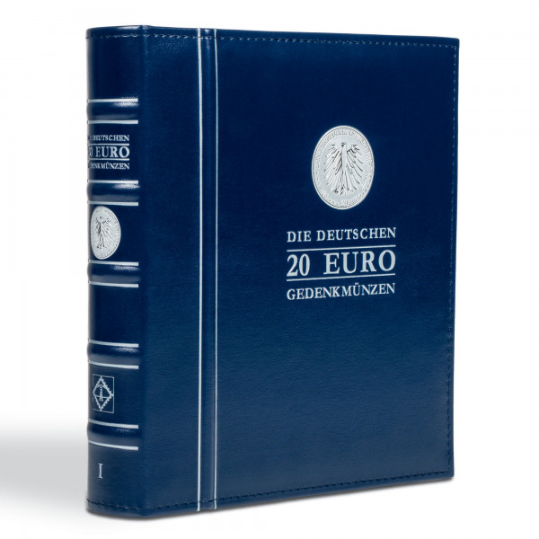 OPTIMA-Vordruckalbum für die deutschen 20-Euro-Gedenkmünzen, Band 1, inkl. Schutzkassette