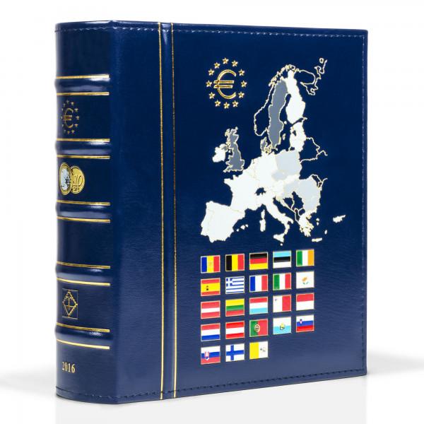 Münzalbum VISTA, Euro-Jahrgang 2016, inkl. Schutzkassette, blau