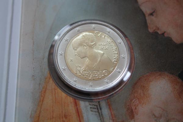 San Marino 2 Euro Münze 2020 - 500. Todestag von Raffaello - stempelglanz
