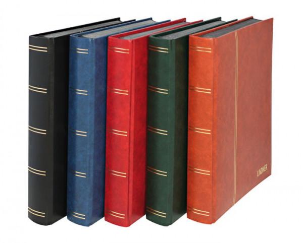 Einsteckbuch ELEGANT, rot, wattiert, 60 schwarze Seiten, durchgehende Klarsichtfolien-Streifen, 230 x 305 mm