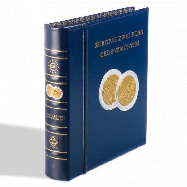 Münzalbum Classic-OPTIMA,Europas 2-Euro-Gedenkmünzen inkl.Schutzkassette , blau, Band 1