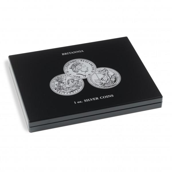 Münzkassette für 20 Britannia Silbermünzen (1 Oz.) in Kapseln