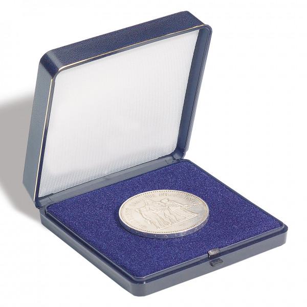 Münzetui blau, für 1 Münze bis 45 mm Ø