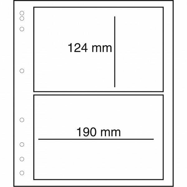 MOC LB-Blankoblätter mit Schutzfolie, 2er Einteilung