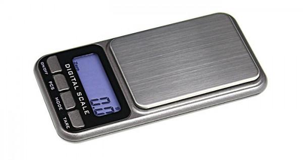 Digitale Taschen-Münzwaage (ohne Batterien), Präzision bis 0,1 g - max. 1000 g