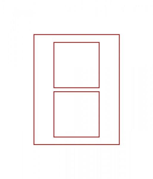 Velourseinlage, STANDARD mit 2 quadratischen Fächern 125 x 125 mm für Münzen/Medaillen und sonstige Sammelobjekte