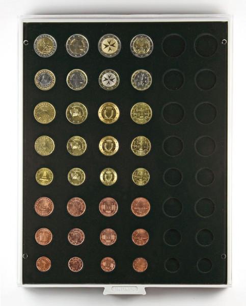Velourseinlage, schwarz, für 6 Euro-Kursmünzensätze