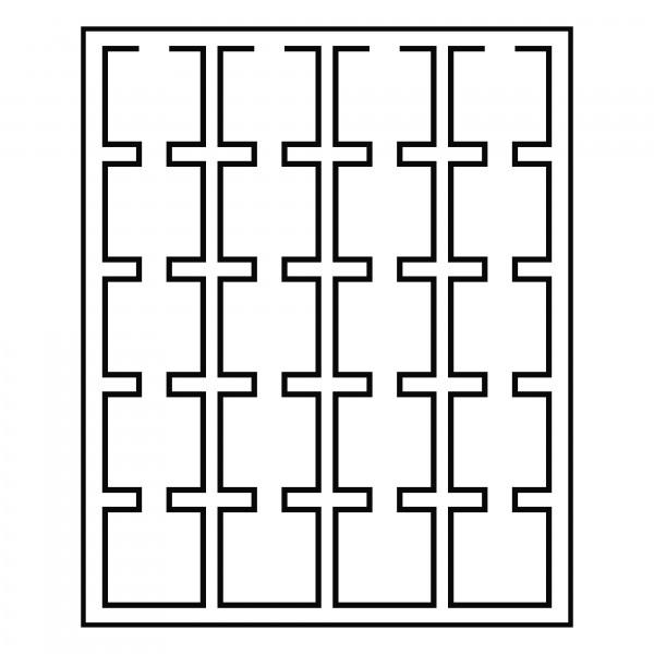 Münzbox LIGNUM, 20 eckige Fächer für Münzenrähmchen