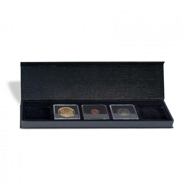 Münzetui AIRBOX mit Aufstellfunktion für 5 QUADRUM-Kapseln, schwarz