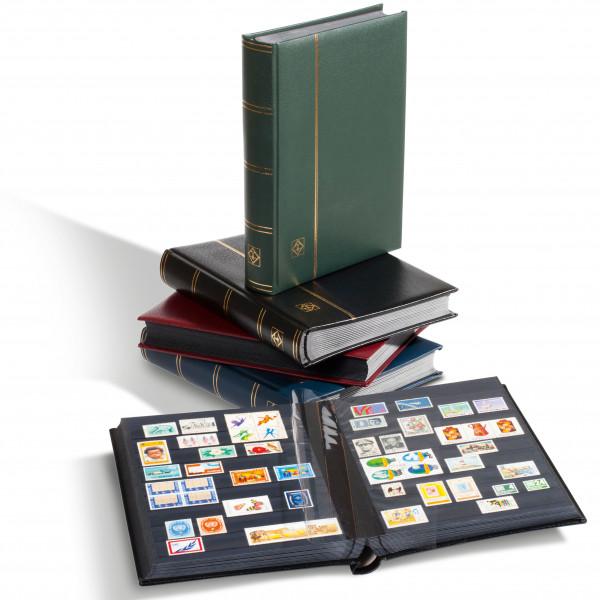 Einsteckbuch PREMIUM, DIN A4, 32 schwarze Seiten, wattierter Ledereinband*