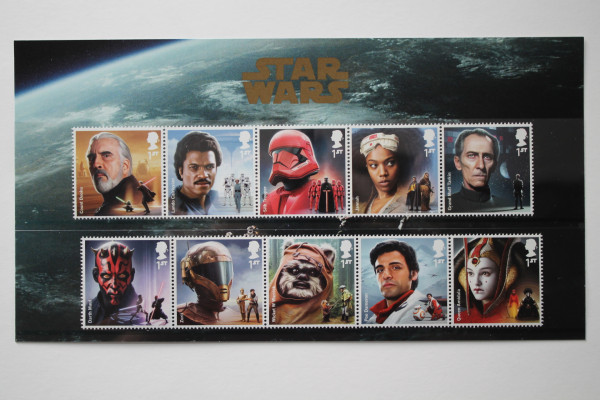 Royal Mail STAR WARS™ 2019 Character Stamp Set Pack - postfrisch