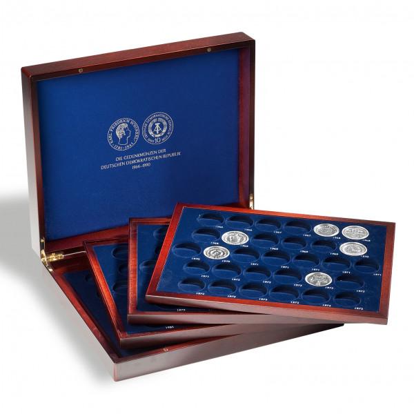 Münzkassette VOLTERRA QUATTROde Luxe, für 123 DDR-Gedenkmünzen in Kapseln