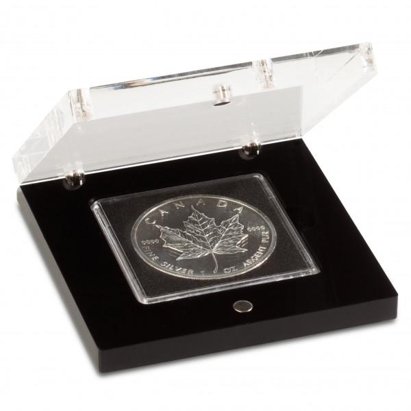 Acryl-Münzetui PRISMA für 1 QUADRUM-Münzkapsel, Deckel transparent