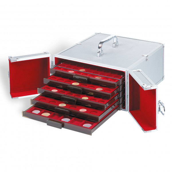 Münzkoffer aus Aluminium, CARGO MB 5, für 5 Münzboxen