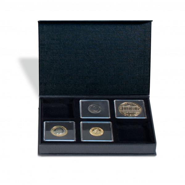 Münzetui AIRBOX mit Aufstellfunktion für 6 QUADRUM-Kapseln, schwarz