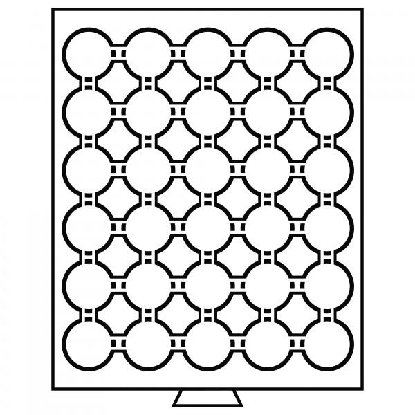 Münzbox 30 Fächer für CAPS 33, rauchfarben
